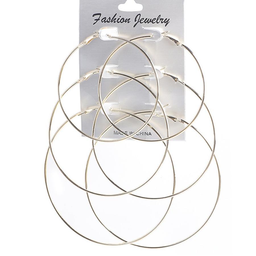 LW Wide Circular Multi-pair Earring