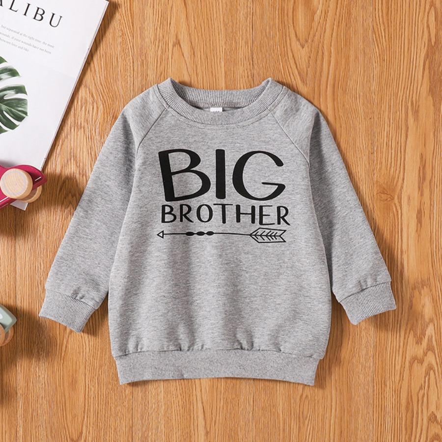 LW COTTON Boy Arrow Letter Print Sweatshirt