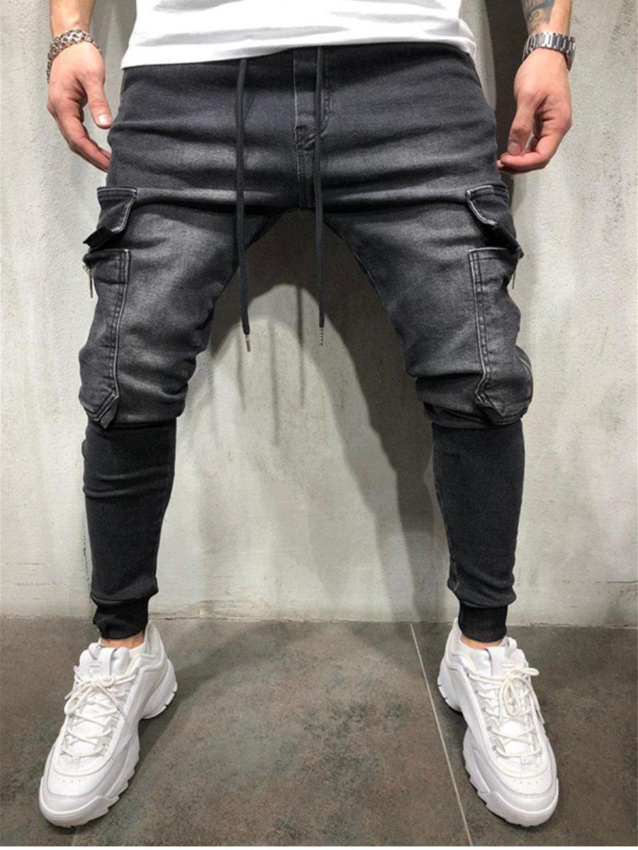 LW Men Drawstring Side Pocket Jeans