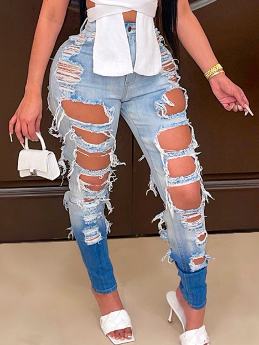 LW SXY Gradient Ripped Jeans
