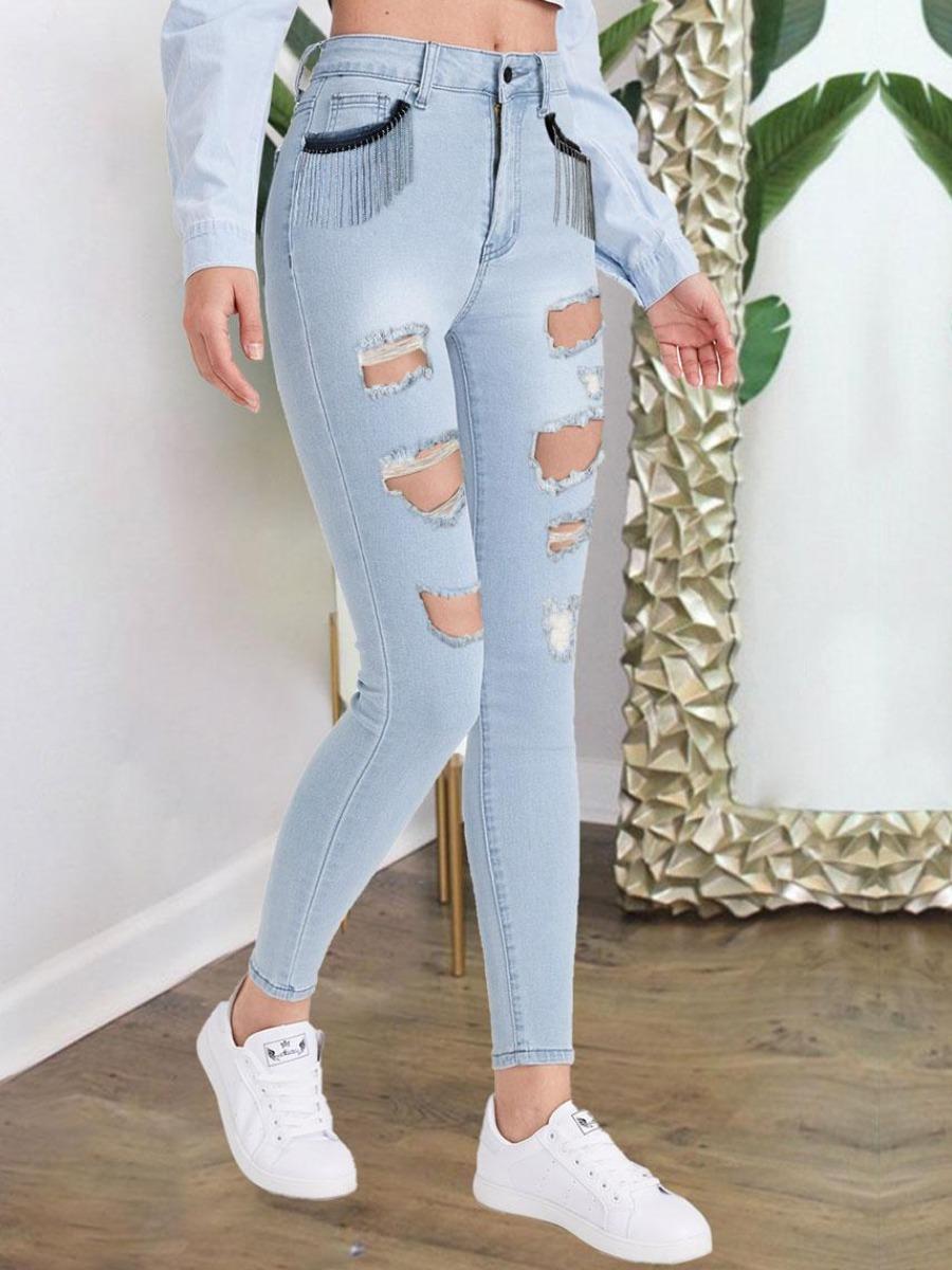 LW BASICS Ripped Skinny Jeans