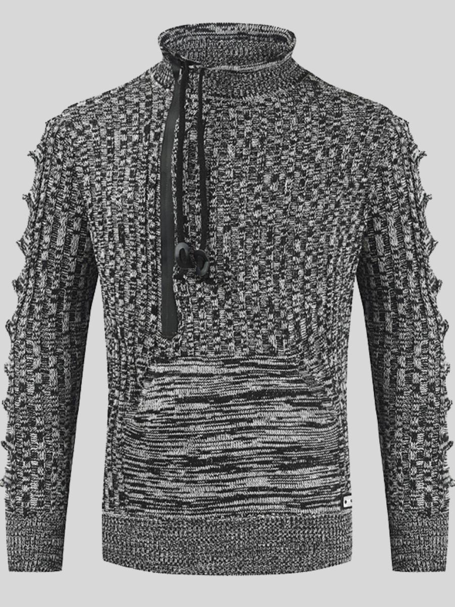 LW Men Half A Turtleneck Drawstring Sweater