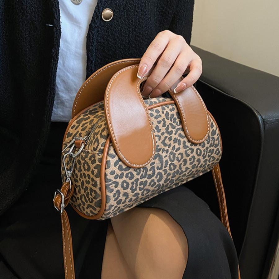 LW Leopard Print Messenger Bag