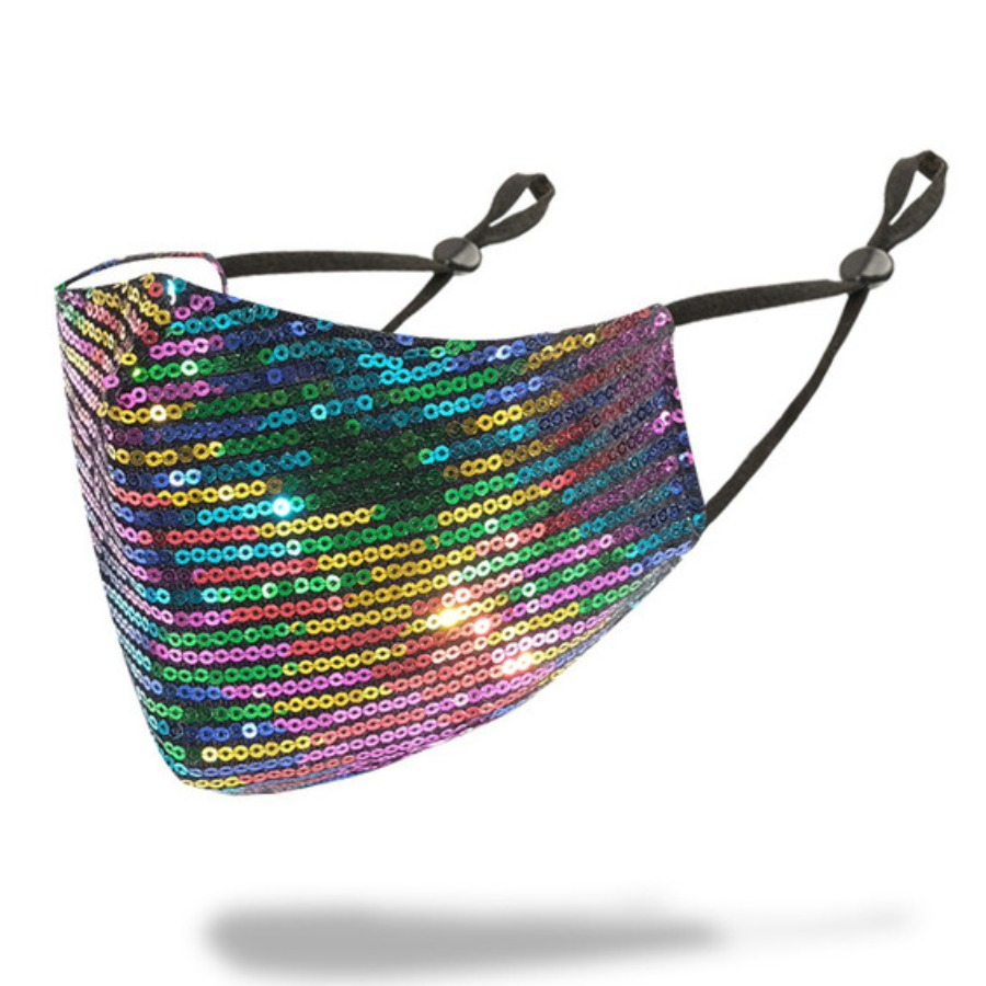 LW COTTON Sequined Gradient Face Mask