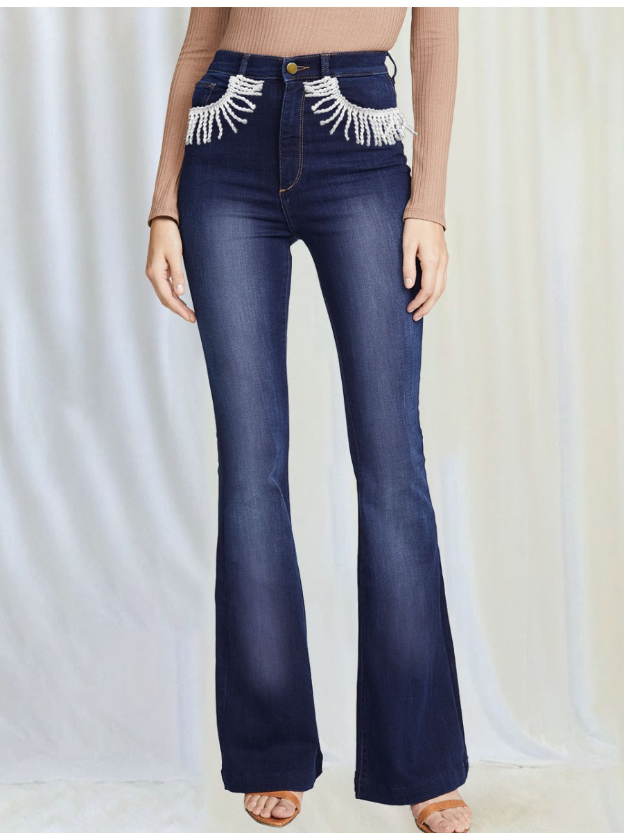LW BASICS Tassel Design Flared Jeans