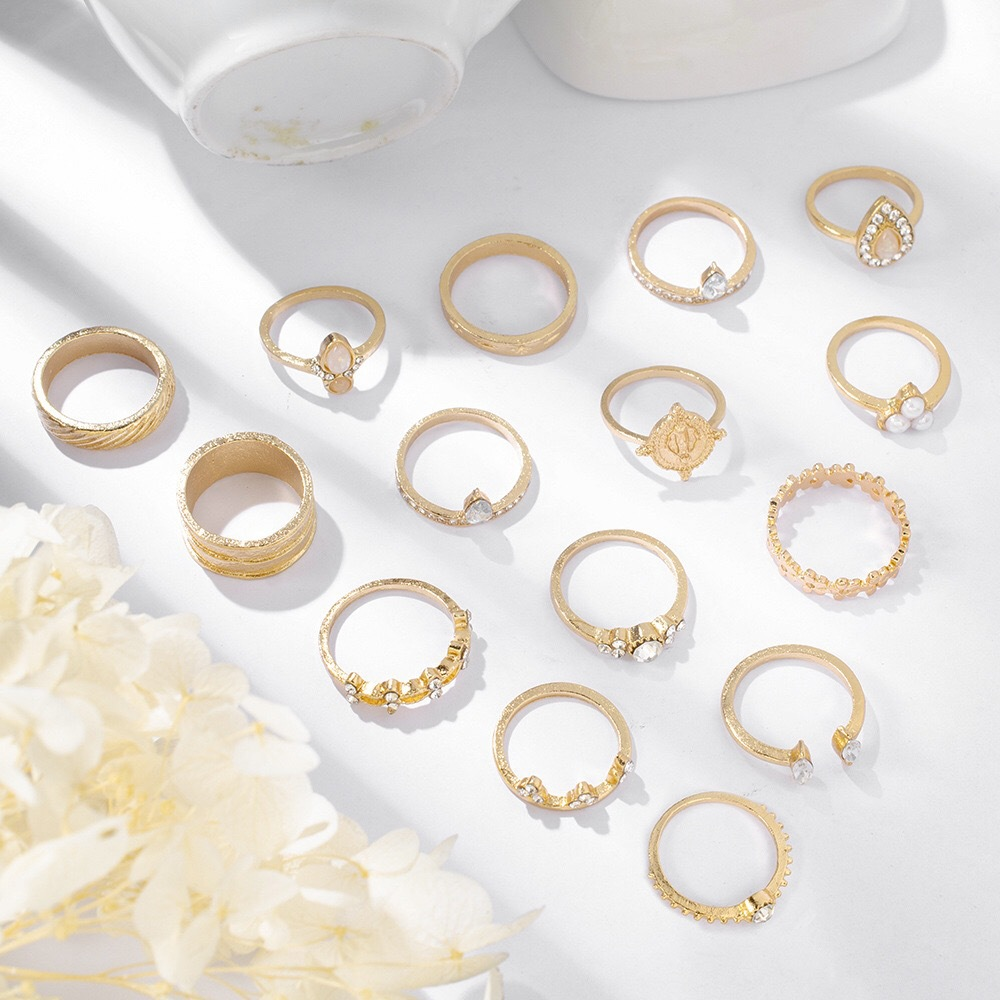 Lovely 15-piece Bead Decoration Ring