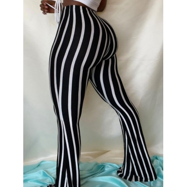 LW Striped Flared Pants