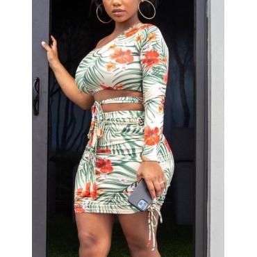 LW SXY Floral Print Drawstring Skirt Set