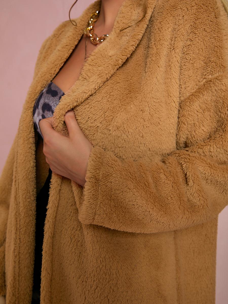 LW Solid Polar Fleece Teddy Coat