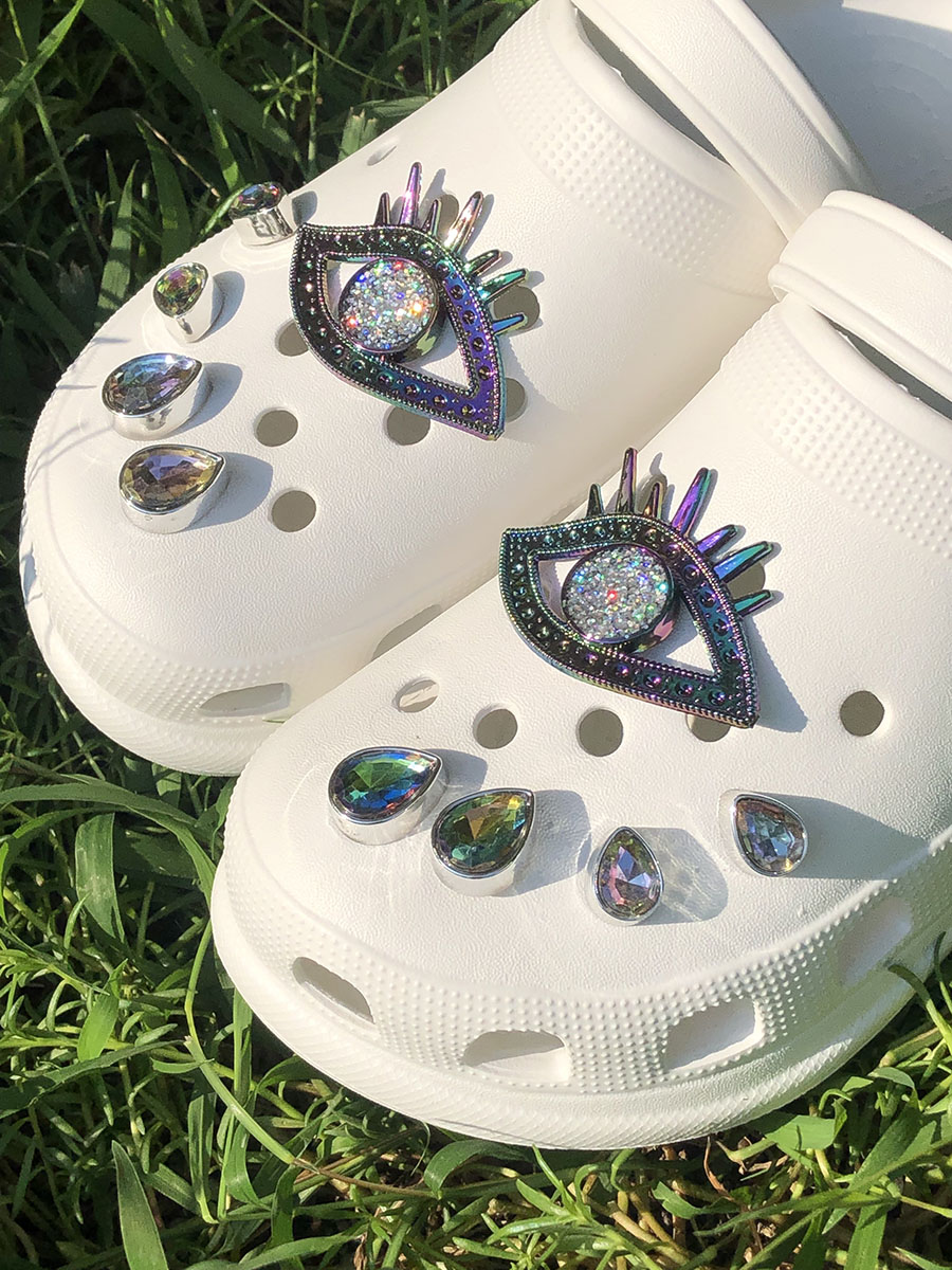 LW Hollow-out Crystal Patchwork Slippers (DIY)