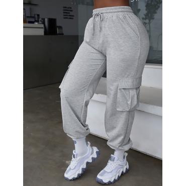 LW COTTON Side Pocket Drawstring Pants