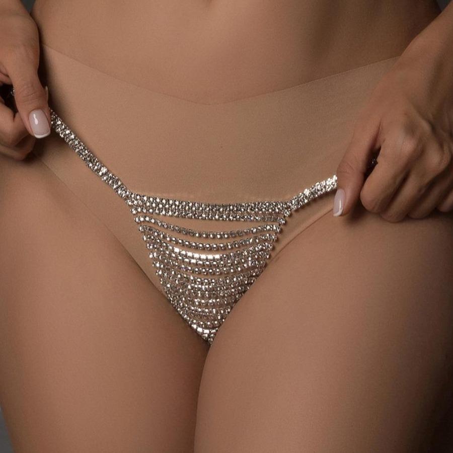 LW SXY Crystal Decor Panty Body Chain