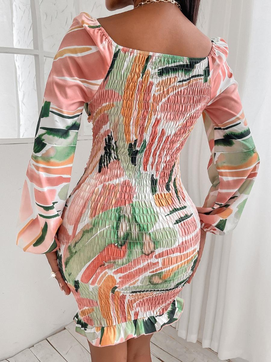 LW SXY Drawstring Ruched Bodycon Dress