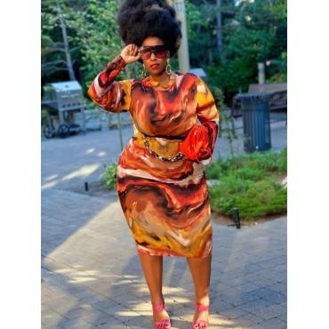 LW Plus Size Tie Dye Bodycon Dress
