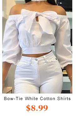 Bow-Tie White Cotton Shirts