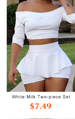 White Milk Two-piece Shorts Set