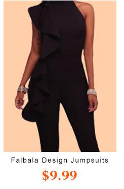Falbala Design Black Jumpsuits