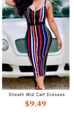 Sleeveless Sheath Mid Calf Dresses