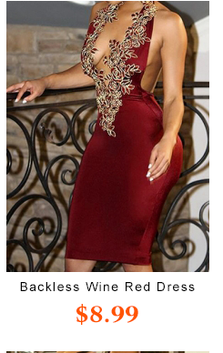 Backless Wine Red Length Dress