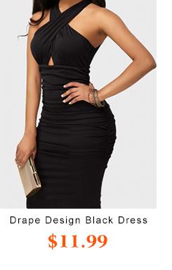 Drape Design BlackLength Dress