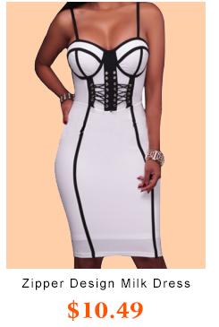 Zipper Design Milk Fiber Dress