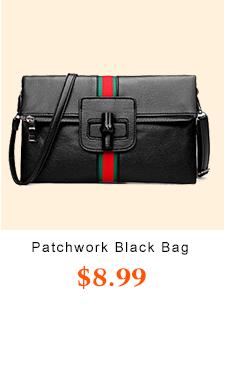 Patchwork Black PU chiude i sacchetti