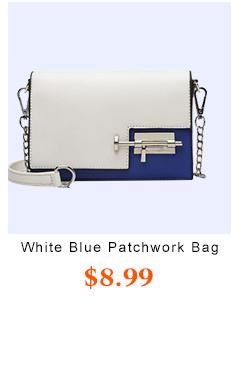 White Blue Patchwork  Crossbody Bag