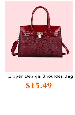 Zipper Design PU Shoulder Bags